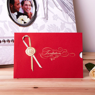 klassisk Stil Wrap & Pocket Invitation Cards med Bånd (Sett Av 50)