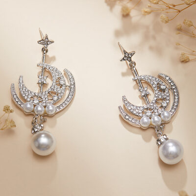 Unique Alloy/Rhinestones/Imitation Pearls Earrings