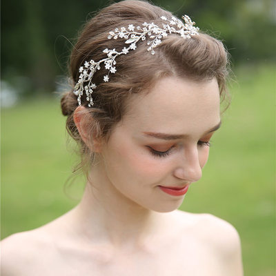Ladies Beautiful Rhinestone/Alloy/Beads Headbands (Sold in single piece)