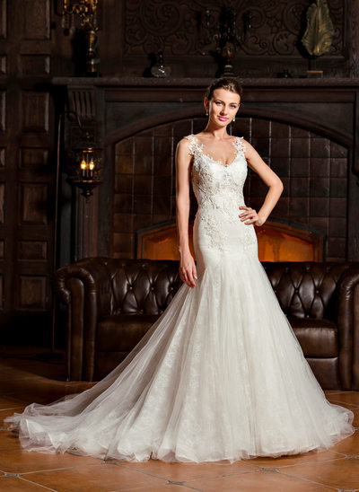 Cheap fishtail wedding dresses