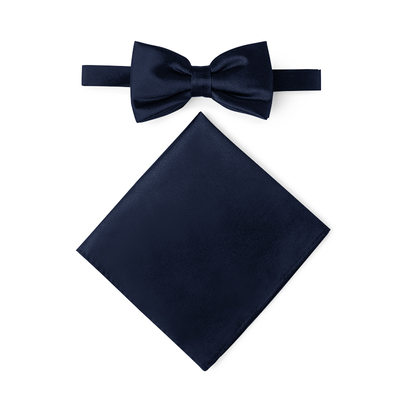 JJ's House Charmeuse Bow Tie & Pocket Square Set