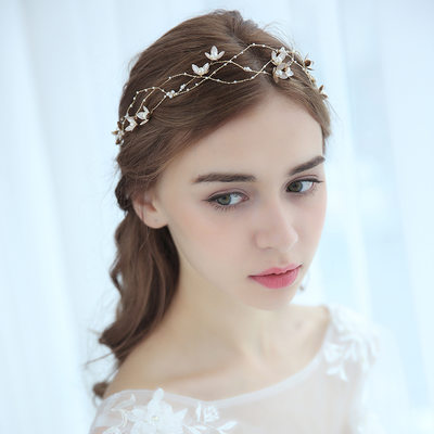 Ladies Pretty Alloy Headbands With Venetian Pearl (Sold in single piece)