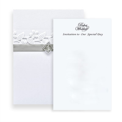 Classic Style Wrap & Pocket Invitation Cards (Set of 10)