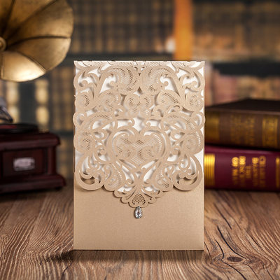 Personalized Classic Style/Modern Style Top Fold Invitation Cards/Birthday Cards/Response Cards/Thank You Cards/Greeting Cards