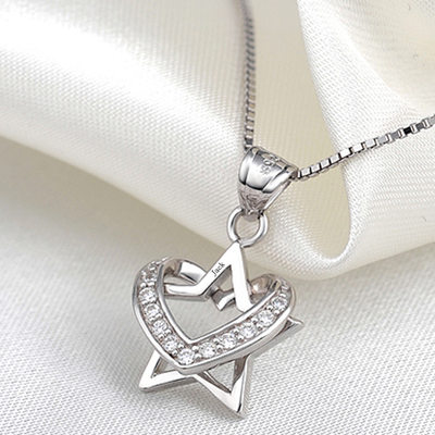 Personalized Ladies' Elegant Sterling Silver Engraved Necklaces For Bride/For Bridesmaid