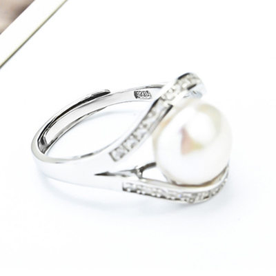 Ladies' Elegant 925 Sterling Silver With Round Rings For Bride/For Bridesmaid/For Couple