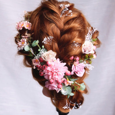 Ladies Special Silk Flower Combs & Barrettes