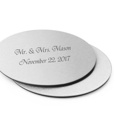 Groom Gifts - Personalized Classic Stainless Steel Coaster