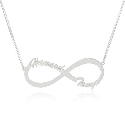 Custom Sterling Silver Infinity Two Name Necklace