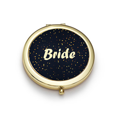 Bride Gifts - Classic Shiny Special Stainless Steel Compact Mirror