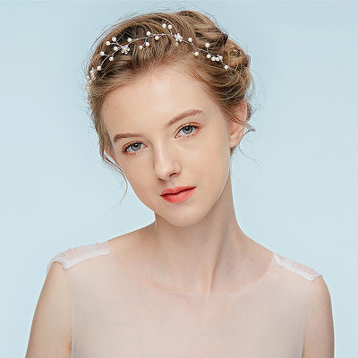 Ladies Amazing Alloy Headbands With Rhinestone/Venetian Pearl (Sold in single piece)