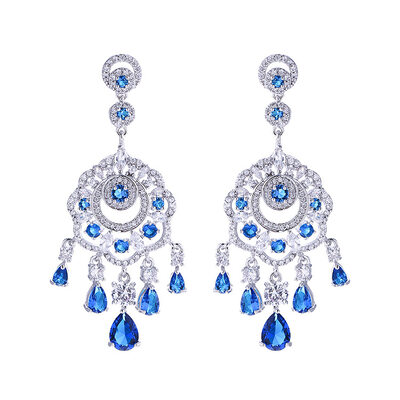 Ladies' Stylish Copper/Platinum Plated With Pear Cubic Zirconia Earrings For Bridesmaid/For Friends