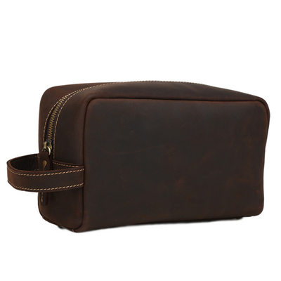 Groom Gifts - Classic Leather Dopp Kit Bag