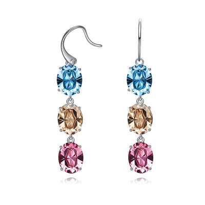 Ladies' Classic Austrian Crystal Earrings For Bride/For Bridesmaid/For Mother