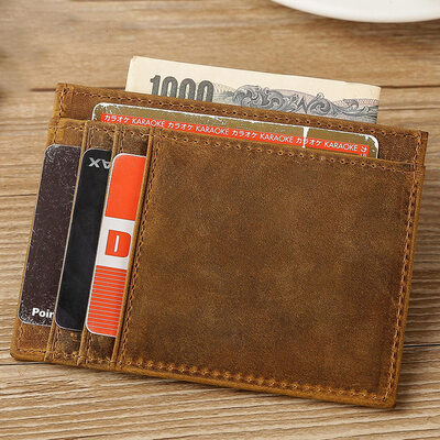 Groom Gifts - Vintage Leather Money Clip