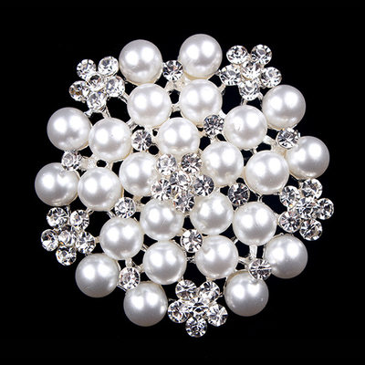 Sparking Alloy/Rhinestones/Imitation Pearls With Rhinestone Ladies' Brooch