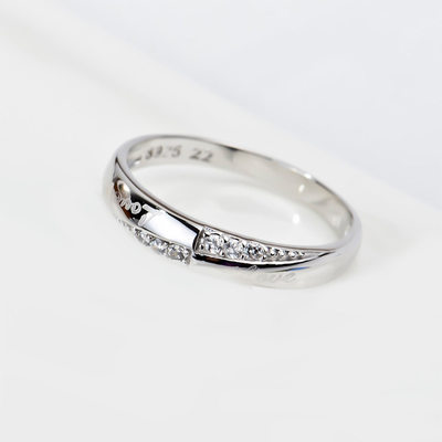 Ladies' Classic 925 Sterling Silver Rings For Bride/For Bridesmaid/For Couple