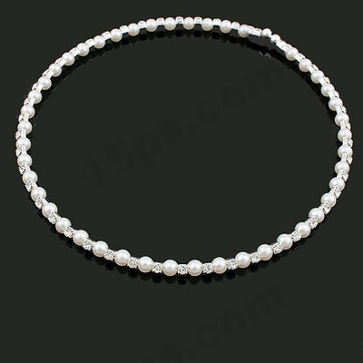 Nice Pearl With Rhinestone Necklaces