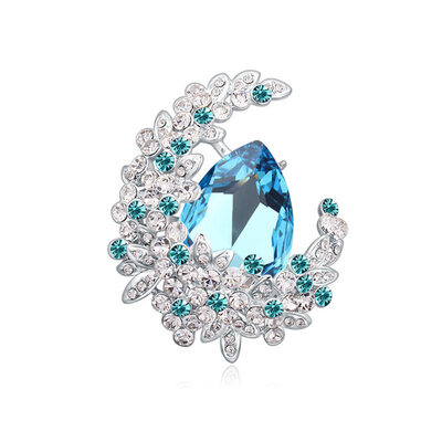 Ladies' Sparking Alloy/Platinum Plated Austrian Crystal Brooch For Mother/For Friends