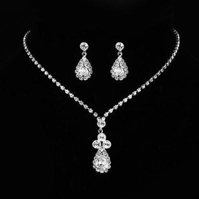 Elegant Rhinestones/Zircon With Rhinestone Ladies' Jewelry Sets