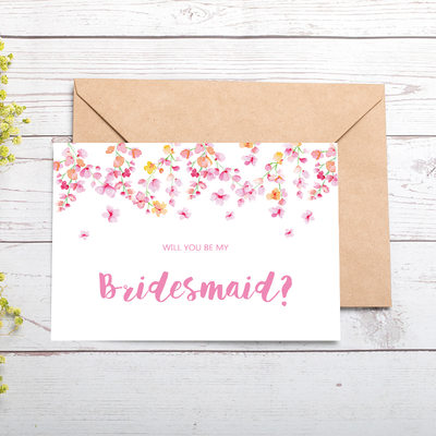 Bridesmaid Gifts - Classic Attractive Special Card Paper Wedding Day Card