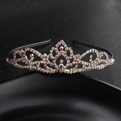 Ladies Classic Rhinestone/Alloy Tiaras With Rhinestone (Sold in single piece)