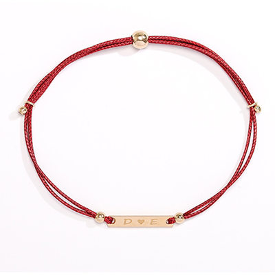 Personalized Ladies' Charming Gold Plated Engraved Bracelets For Bride/For Bridesmaid/For Friends