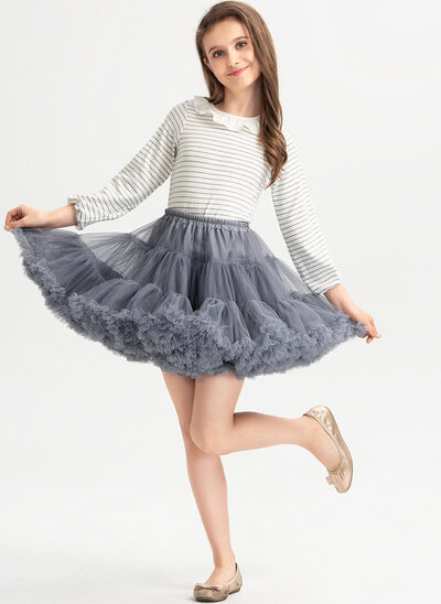 Ball-Gown/Princess Short/Mini Flower Girl Dress - With Ruffles