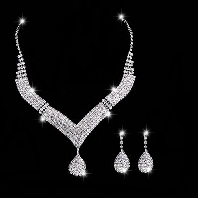 High Quality Alloy/Copper With Rhinestone Ladies' Jewelry Sets