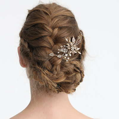 Ladies Gorgeous Rhinestone/Alloy/Imitation Pearls Hairpins With Rhinestone/Venetian Pearl (Sold in single piece)