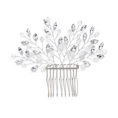 Ladies Beautiful Crystal/Rhinestone Combs & Barrettes With Rhinestone/Crystal (Sold in single piece)