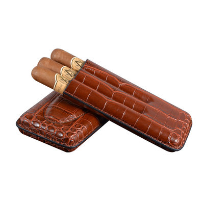 Groom Gifts - Vintage Leather Cigar Case