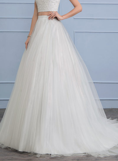 Separates Court Train Tulle Wedding Skirt (002112574)