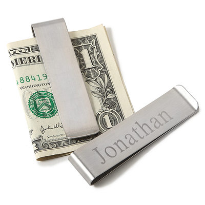 Groomsmen Gifts - Personalized Stainless Steel Money Clip
