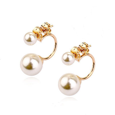 Unique Alloy/Pearl Ladies' Earrings