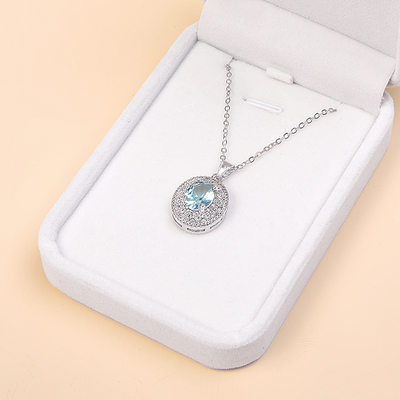 Bridesmaid Gifts - Eye-catching Zircon Copper Jewelry Necklace