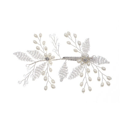 Ladies Beautiful Rhinestone/Alloy/Imitation Pearls Hairpins With Rhinestone (Sold in single piece)