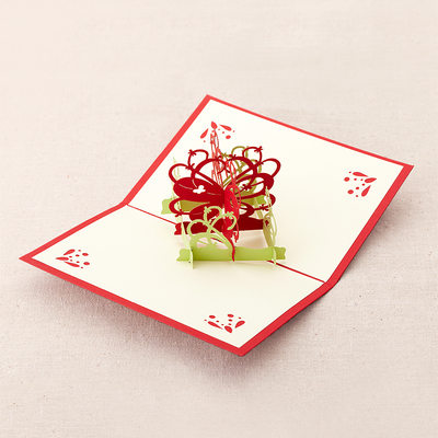 Three-dimensional Butterfly&Flower Greeting Cards