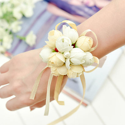 Bridesmaid Gifts - Fashion Vintage Cloth Wrist Corsage