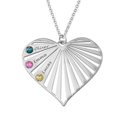 Personalized Ladies' Eternal Love With Heart Cubic Zirconia Engraved Necklaces Necklaces For Bride/For Couple