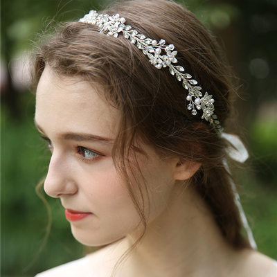 Ladies Beautiful Crystal/Rhinestone/Imitation Pearls Headbands With Rhinestone/Crystal (Sold in single piece)