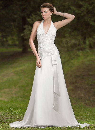 Halter Wedding Dresses Affordable Under 100 JJsHouse