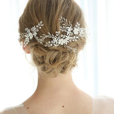 Elegant Alloy Hairpins With Rhinestone/Crystal (Set of 3)