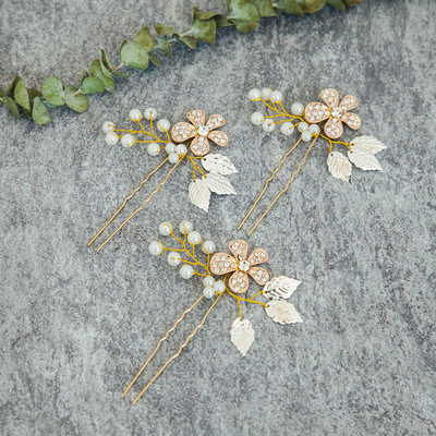 Ladies Elegant Alloy/Imitation Pearls Hairpins (Set of 3)