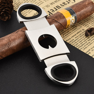 Groom Gifts - Modern Stainless Steel Cigar Cutter