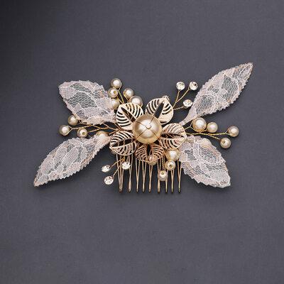 Ladies Beautiful Rhinestone/Imitation Pearls/Lace Combs & Barrettes With Rhinestone/Venetian Pearl (Sold in single piece)