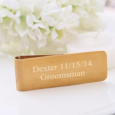 Groomsmen Gifts - Personalized Elegant Copper Money Clip