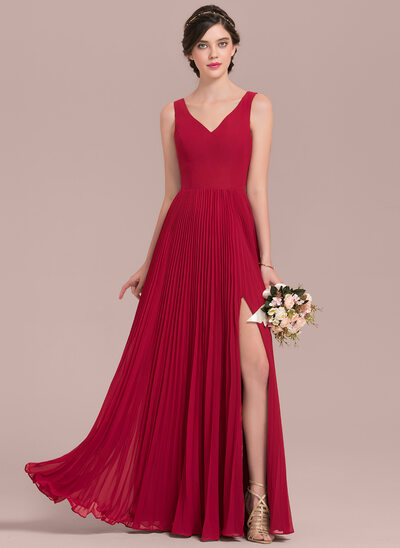 Vestidos para damas de honor en color rojo