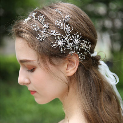 Ladies Beautiful Crystal/Rhinestone/Alloy/Beads Headbands (Sold in single piece)