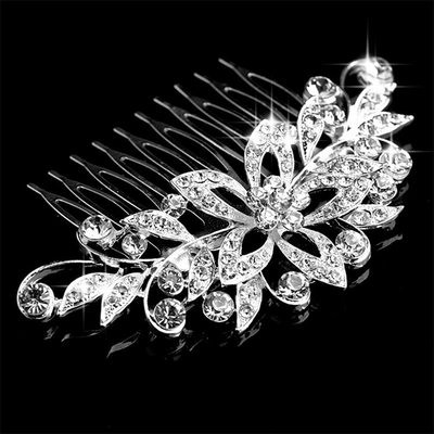 Ladies Magnificent Alloy Combs & Barrettes With Rhinestone (Sold in single piece)